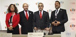 Botella, Wert, Blanco y Carballeda, en rueda de prensa.   EFE