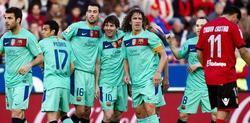 Messi celebra el primer tanto del encuentro. | EFE