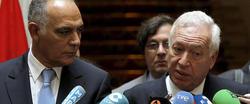 Margallo, junto a su homólogo marroquí. | Efe