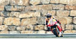Marc Márquez, durante el Gran Premio de Aragón. | EFE