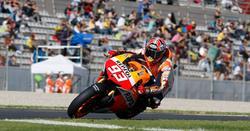 Márquez rueda en el circuito de Valencia. | Cordon Press