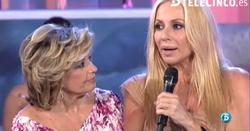 Marta Sánchez, junto a María Teresa Campos.   Telecinco