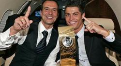 Jorge Mendes, junto a Cristiano Ronaldo. | Archivo