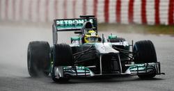 Nico Rosberg rueda con su Mercedes en Montmeló. | EFE/Archivo
