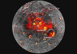 Los cráteres que albergarían hielo   NASA