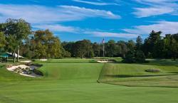 Uno de los hoyos del Merion Golf Club.