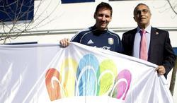 Messi y Alejandro Blanco. | EFE