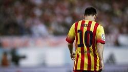 Leo Messi, durante el partido de ida de la Supercopa. | EFE