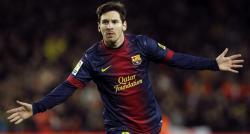 Messi celebra el tercer tanto. | EFE