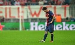 Messi, cabizbajo en el Allianz Arena. | EFE
