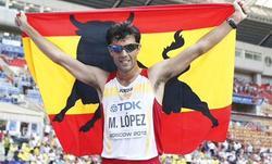 Miguel Ángel López celebra la medalla de bronce   Efe