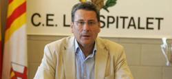 Miguel García, presidente del Hospitalet.