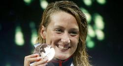 Mireia Belmonte, con la medalla de bronce lograda en los 200 estilos. | Cordon Press