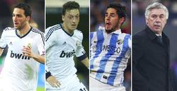 Higuaín, Özil, Isco y Ancelotti.