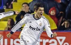 Álvara Morata celebra su gol ante el Levante.| EFE