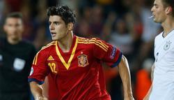 Morata celebra el gol conseguido ante Alemania. | Cordon Press