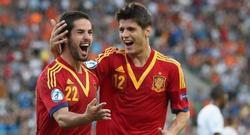 Isco celebra un gol con la selección española sub\'21. | Archivo