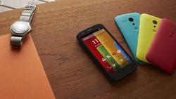 El Moto G en cuatro de los siete disponibles. | Motorola