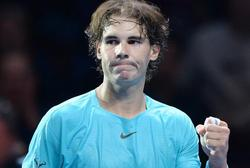 Rafa Nadal, celebra el triunfo ante Roger Federer.   EFE