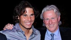 Rafa Nadal, junto a Bjorn Borg en una imagen tomada en abril de 2012 en Montecarlo. | Cordon Press/Archivo