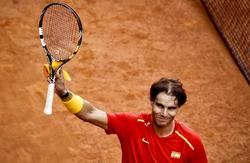 Rafa Nadal celebra su triunfo ante Sergiy Stakhovsky.   EFE