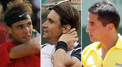 Nadal, Ferrer y Almagro, en Roland Garros. | LD