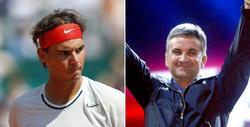 Rafa Nadal y el padre de Novak Djokovic. | LD
