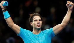 Rafa Nadal celebra su triunfo ante Stanislas Wawrinka.   Cordon Press