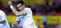 Álvaro Negredo celebra un gol con el Sevilla. | EFE