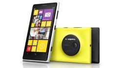 El Lumia 1020 en sus tres colores, blanco, amarillo y negro.   Nokia