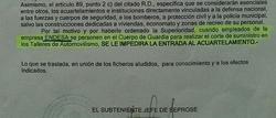 Extracto del oficio de la Guardia Civil. | LD