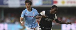 El goleador y debutante Fabrice. | EFE