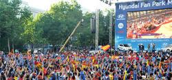 La Fan Zone de España en Madrid. | LD / David Alonso.