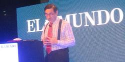 Pedro J. Ramírez, durante la presentación   LD
