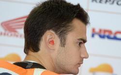 Dani Pedrosa, durante los entrenamientos libres en Sachsenring. | EFE