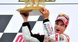 Dani Pedrosa celebra su victoria en el circuito de Sachsenring. | EFE