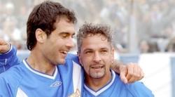 Guardiola y Baggio, durante su etapa en el Brescia. | EFE