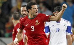 Pepe celebra un gol con la selección portuguesa ante Israel. | Cordon Press