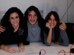Sergio Peris Mencheta con el equipo de Es la mañana del fin de semana
