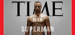 Extracto de la portada de la revista Time con Oscar Pistorius.