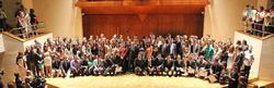 Foto de grupo de los alumnos premiados.