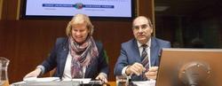 El consejero de Salud del Gobierno vasco, Jon Darpon y la presidenta de la comisión de presupuestos, Susana Corcuera | EFE