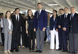 Los Príncipes a su llegada al hospital | Efe