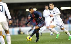 Rafinha, durante un partido contra el Castilla en el Mini Estadi el pasado mes de enero. | Cordon Press