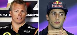 Kimi Raikkonen y Daniel Ricciardo. | Cordon Press