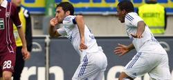Raúl celebra el tercer tanto. | EFE