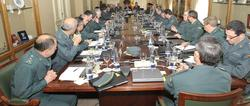 Reunión de Consejo de la Guardia Civil en marzo de 2012.   Guardia Civil