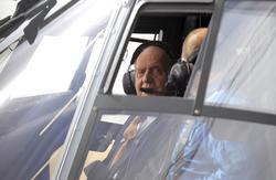 El Rey, en su vuelo en Eurocopter | Cordon