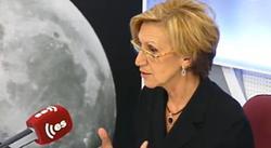 Rosa Díez durante la entrevista