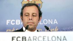 Sandro Rosell, en rueda de prensa.   EFE